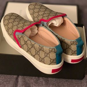 Gucci Canvas Slip on Shoe